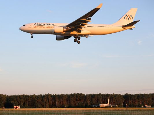 Almasria Universal Airlines, Airbus A330-200 SU-TCH (TXL 29.7. 2018)