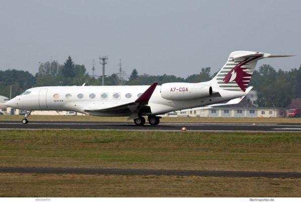 Qatar Executive, Gulfstream G650 A7-CGA (TXL 7.9.2018)