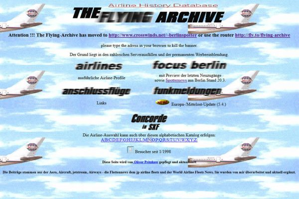 Screenshot Flying Archive (© O. Pritzkow)