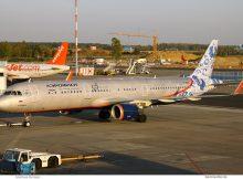 Aeroflot, Airbus A321-200(WL) VP-BEE, 95-Jahre-Bemalung (SXF 18.9.2018)