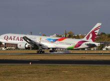 Qatar Airways Boeing 777-300ER A7-BAX, FIFA 2022 cs. (TXL 20.10. 2018)