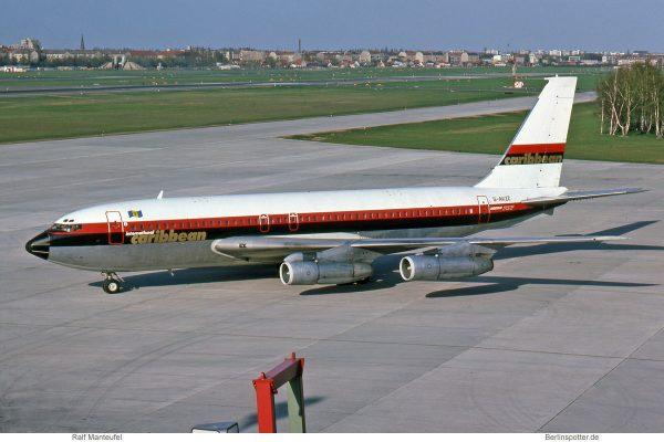 Laker Airways, opf International Caribbean Airways, Boeing 707-138B G-AVZZ (TXL 04/1976)