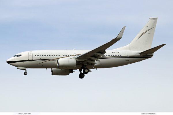 Jhonlin Air Transport, Boeing 737-700(BBJ) N977JG (SXF 26.9.2018)