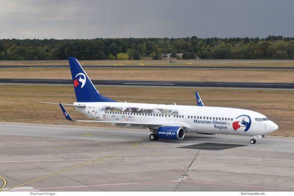 Travel Service, Boeing 737-800(WL) OK-TVO, Moravian-Silesian Region (TXL 1.10.2018)