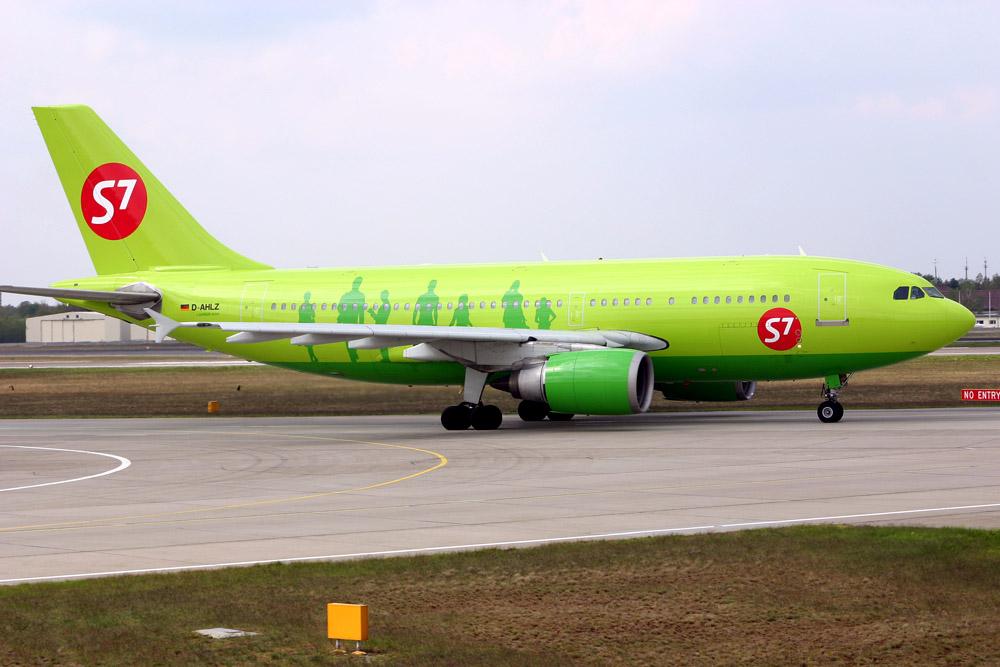 S7 Airlines, Airbus A310-200 (Winglets) D-AHLZ (TXL 30.4. 2005)
