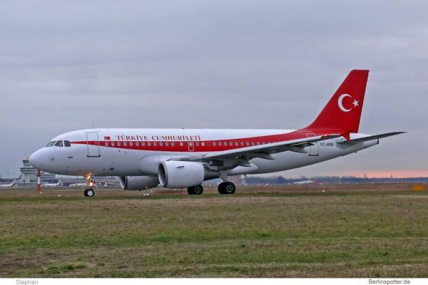 Turkish Gvmt., Airbus A319CJ TC-ANA (TXL 8.2.2008)