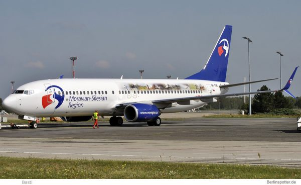 Travel Service, Boeing 737-800(WL) OK-TVL, Moravian-Silesian Region (SXF 12.9.2015)