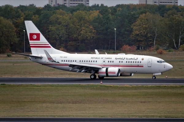 Tunesien, Boeing 737-700(BBJ) TS-IOO (TXL 29.10.2018)