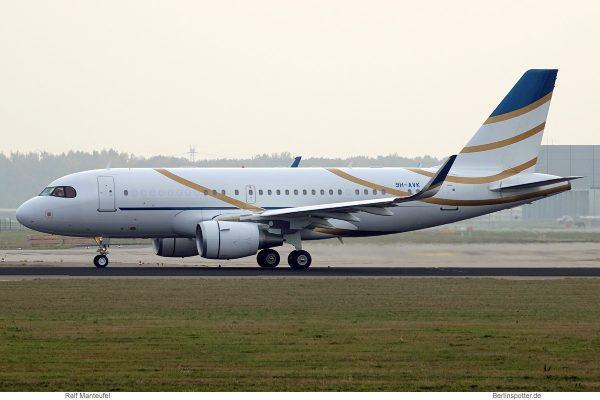 Comlux Malta, Airbus A319 CorporateJet (SL) 9H-AVK (SXF 5.11.2018)