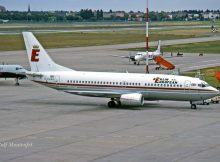 Berlin European UK, Boeing 737-300 G-EURR (TXL 05/1990)