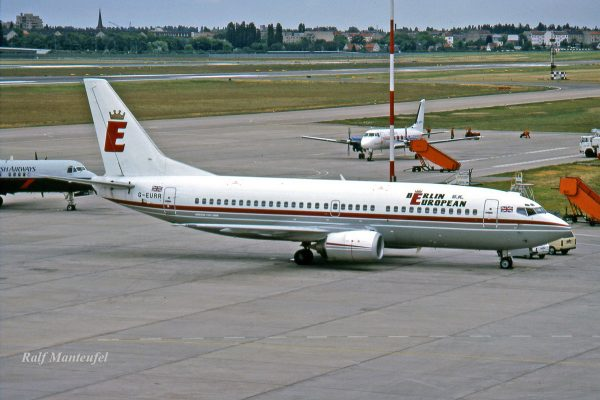 Berlin European UK, Boeing 737-300 (TXL 05/1990)