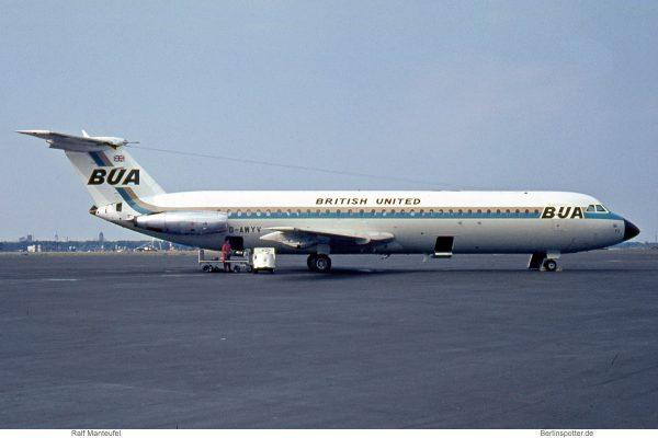 British United Airways, BAC 1-11-501EX (TXL 06/1970)