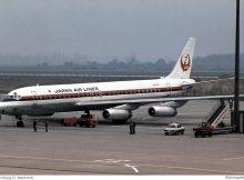 JAL Japan Air Lines, Douglas DC-8-62 JA8034 (SXF 22.4.1978)