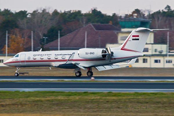 Arab Republic of Egypt, Gulfstream IV SP SU-BNO (TXL 3.12. 2018)