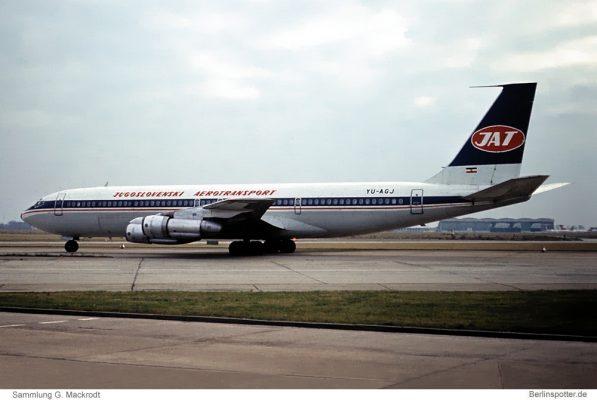 JAT Jugoslovenski Aerotransport, Boeing 707-351C YU-AGJ (SXF 21.12.1974)