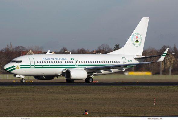 Nigerian Air Force Boeing 737-700(BBJ) 5N-FGT (TXL 28.1.2018)