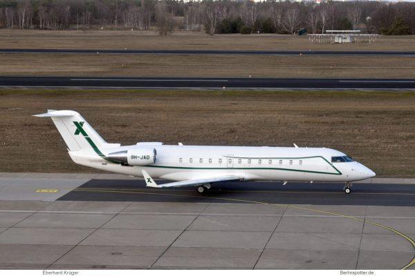 Air X Charter, Bombardier Challenger 850 9H-JAD (TXL 11.2.2019)