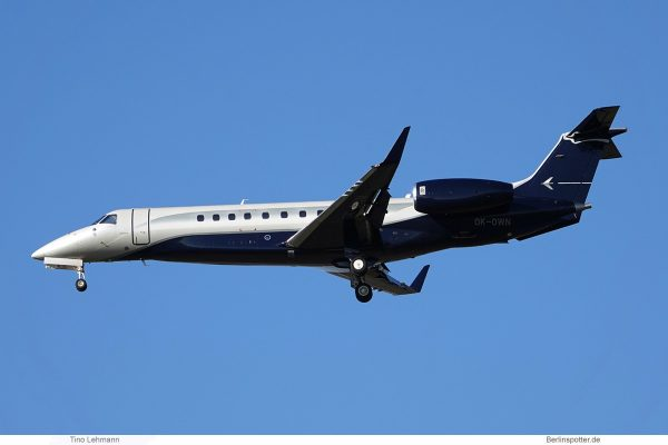 ABS Jets, Embraer Legacy 650 (ERJ-135BJ) OK-OWN (SXF 18.2.2019)