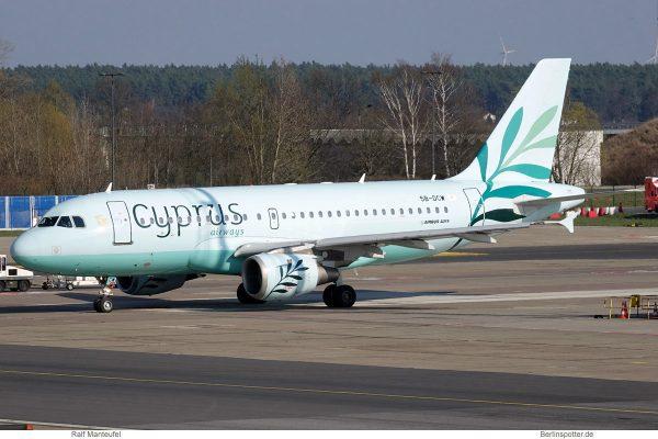 Cyprus Airways, Airbus A319-100 5B-DCW (SXF 30.3.2019)