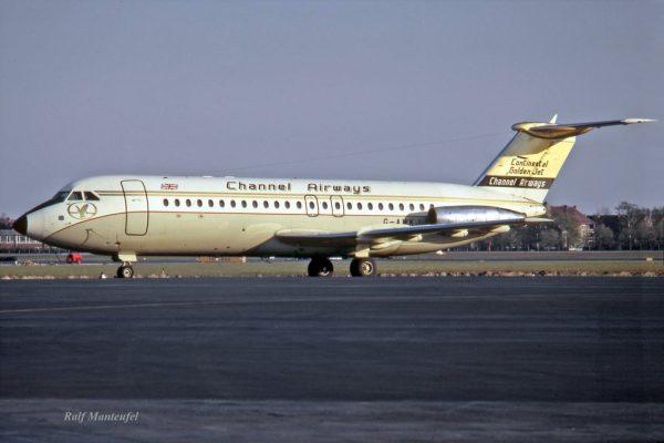 Channel Airways, BAC-1-11-408EF G-AWKJ (TXL 05/1971)