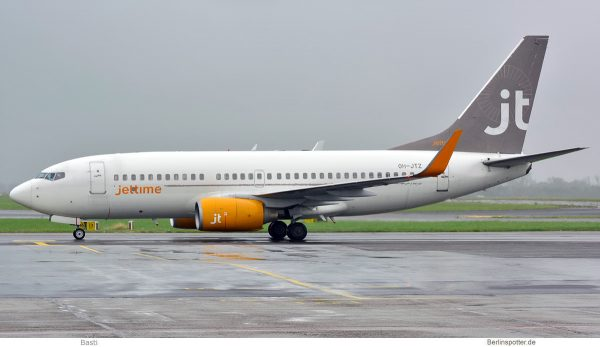 Jettime Finland, Boeing 737-700(WL) OH-JTZ (SXF 28.4.2019)