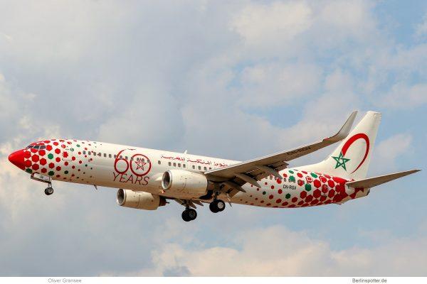 Royal Air Maroc, Boeing 737-800(WL) CN-RGV, 60 years cs. (TXL 5.5.2019)