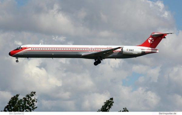 DAT Danish Air Transport, McDonnell-Douglas MD-82 OY-RUT (SXF 13.05.2019)