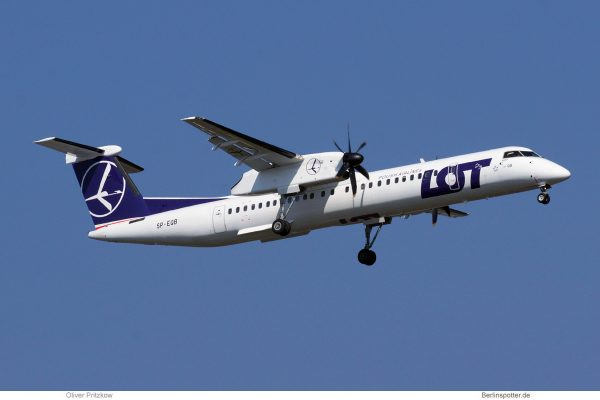 LOT Polish Airlines, Bombardier Q400 SP-EQB (TXL 7.4.2019)