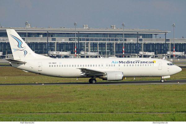 Air Mediterranean, Boeing 737-400 SX-MAH (SXF 17.5.2019)