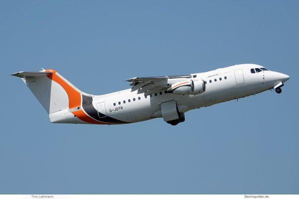 Jota Aviation Avro RJ85 G-JOTR (SXF 14.6.2019)
