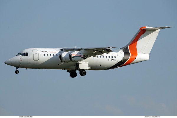 Jota Aviation Avro RJ85 G-JOTR (SXF 13.6.2019)
