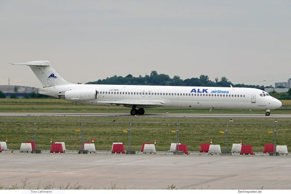 ALK Airlines, McDonnell-Douglas MD-82 LZ-DEO (SXF 16.6.2019)