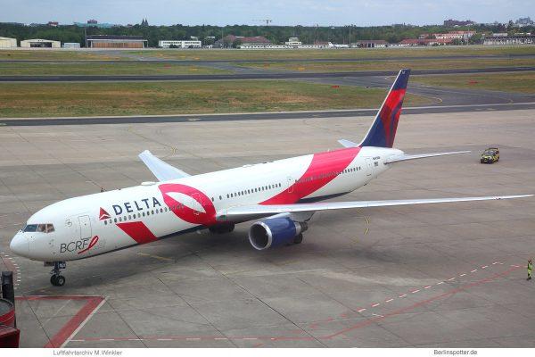 Delta Air Lines, Boeing 767-400ER N845MH, BCRF-Bemalung (TXL 28.6.2019)
