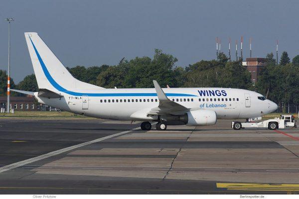 Wings of Lebanon, Boeing 737-700(WL) T7-WLA (SXF 20.7.2019)