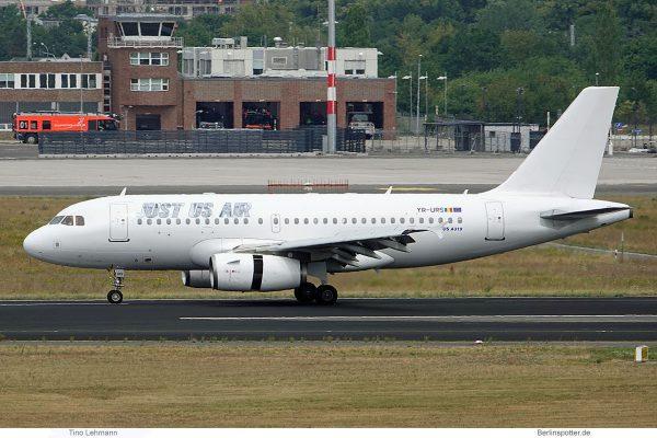 Just Us Air, Airbus A319-100 YR-URS (SXF 22.7.2019)