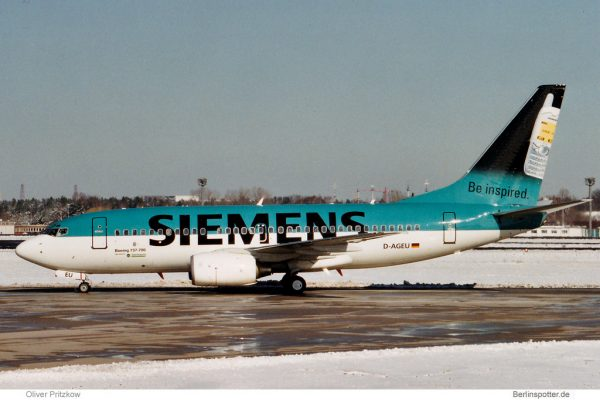 Germania, Boeing 737-700 D-AGEU, Siemens cs. (TXL 26.3.2001)