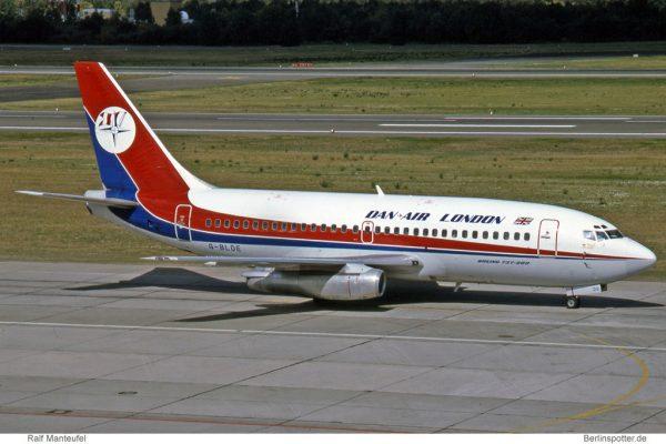Dan-Air London, Boeing 737-200 Adv. G-BLDE (TXL 23.7.1991)