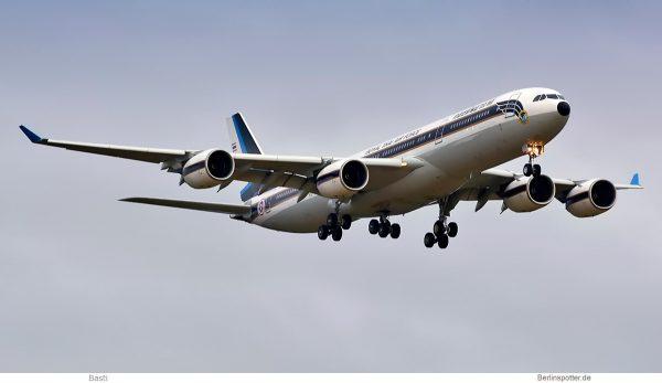 Royal Thai Air Force, Airbus A340-500 HS-TYV (SXF 27.9.2019)