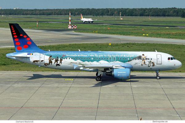 Brussels Airlines, Airbus A320-200 OO-SNE, Belgian Icons - Peietr Bruegel cs. (TXL 31.8.2019)