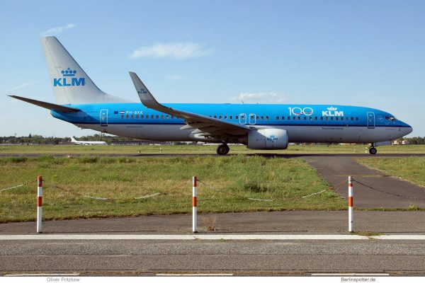 KLM Royal Dutch Airlines, Boeing 737-800(WL) PH-BXK (TXL 4.9.2019)