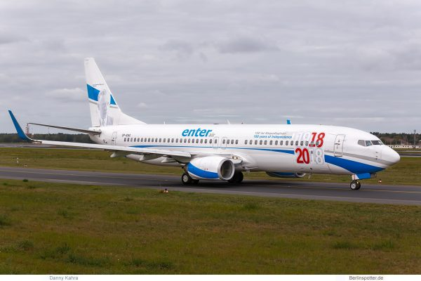 Enter Air, Boeing 737-800(WL) SP-ENX, 100 years of Independence (TXL 20.9.2019)