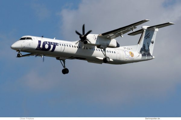 LOT Polish Airlines, Bombardier Q400 SP-EQK, 100 Jahre Aeroklub Polen (TXL 5.9.2019)