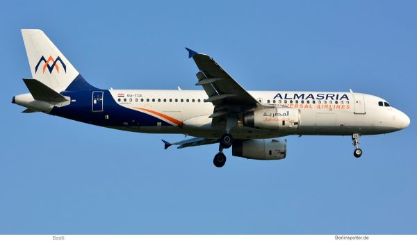 Almasria Universal Airlines, Airbus A320-200 SU-TCE (SXF 31.8.2019)