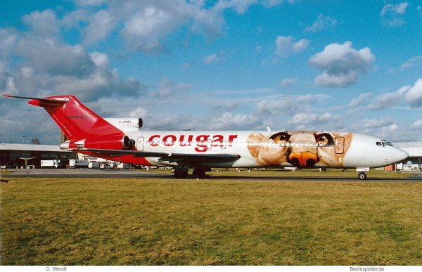 Cougar Leasing, Boeing 727-200(RE) G-OPMN (SXF 31.1.2002)