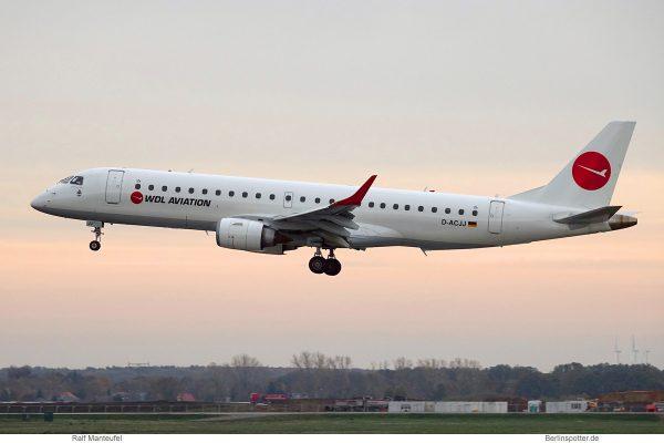 WDL Aviation, Embraer 190LR D-ACJJ (SXF 8.11.2019)
