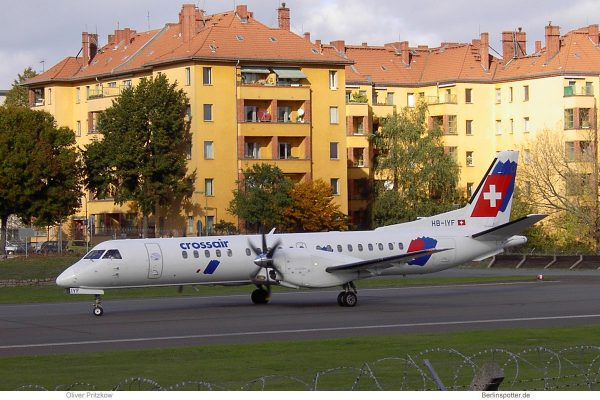 Crossair, Saab 2000 HB-IYF (THF 12.10.2003)