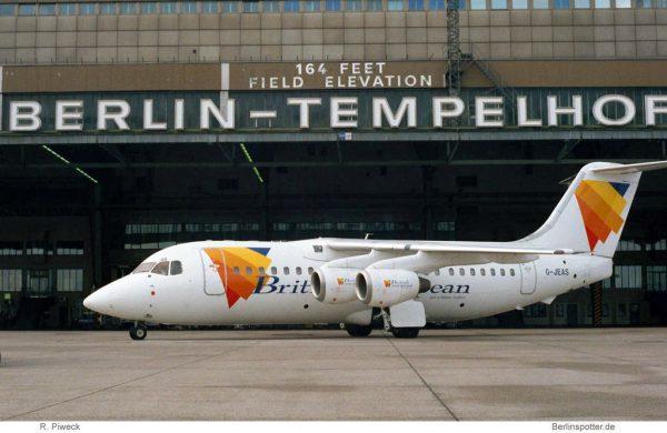 British European Airways, BAe 146-200 G-JEAS (THF 11/2000)