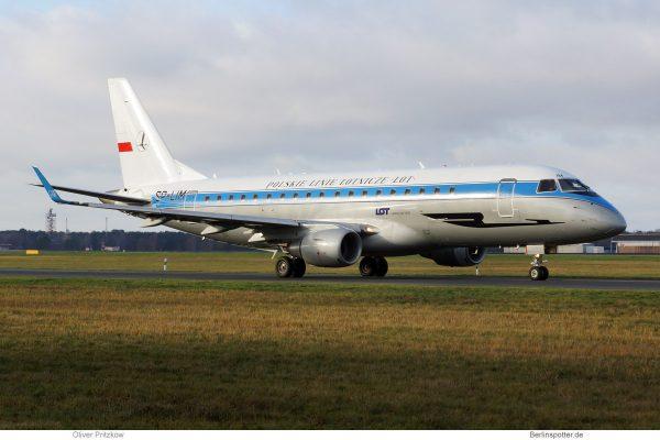 LOT Polish Airlines, Embraer 175LR SP-LIM, retro cs. (TXL 30.11.2019)