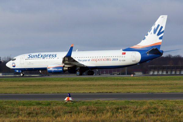 SunExpress, Boeing 737-800(WL) TC-SOR, Year of Aspendos (TXL 30.11.2019)