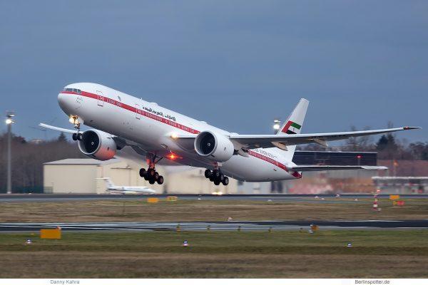 United Arab Emirates, Boeing 777-300ER A6-SIL (TXL 18.1.2020)
